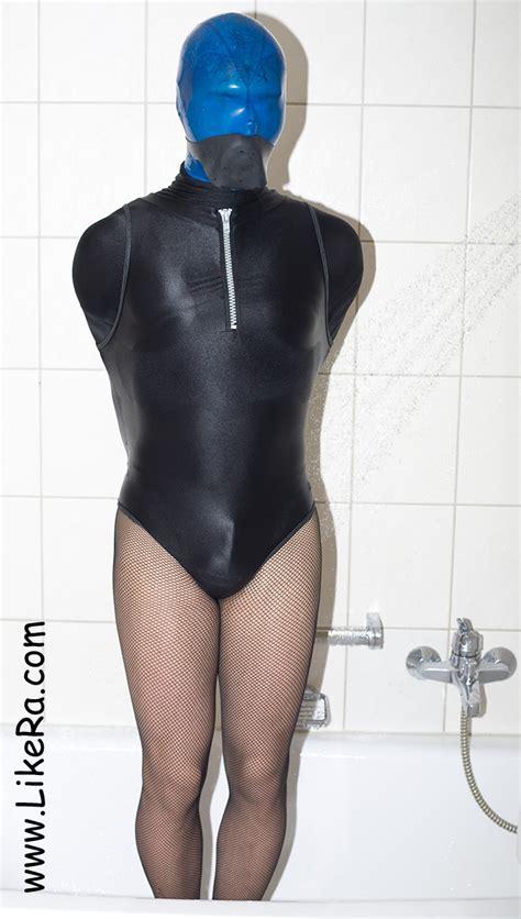bathroom bondage ses61 04727 self bondage encased in lycra in theh shower like ra s naughty blog