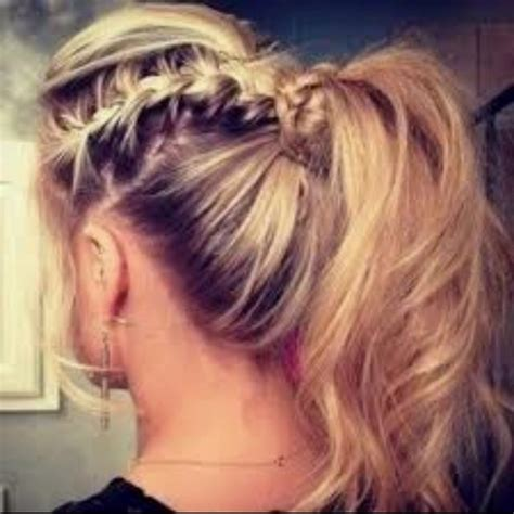 big braids pony hair style cute cheer hair style cheer hair pinterest cheer