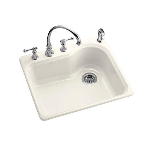 kohler meadowland self rimming 25 in x 22 in single bowl