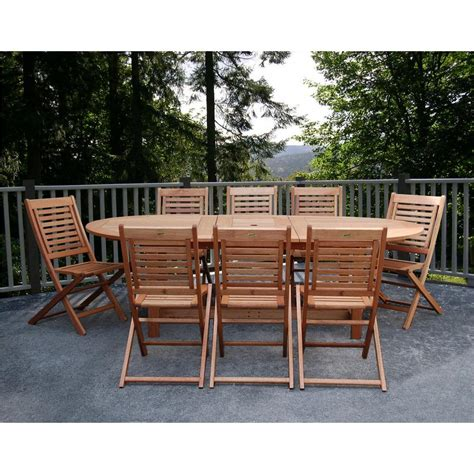 Wooden Patio Dining Set Amazonia Grand 9 Extendable Fsc Eucalyptus Wood Patio Dining Set Bt Grd Ext The