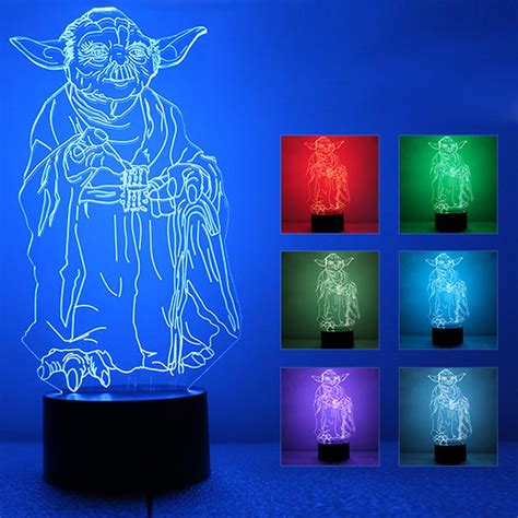 star wars night light star wars death star 3d led night light touch switch table