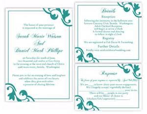teal wedding invitation templates wedding invitation sample