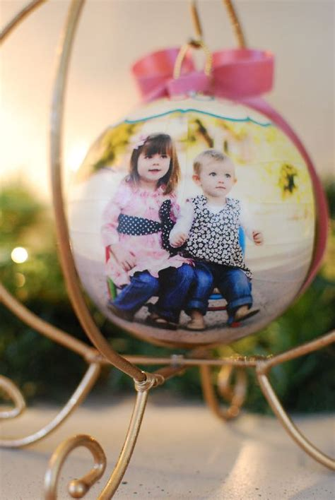 decoupage ornaments christmas winter pinterest