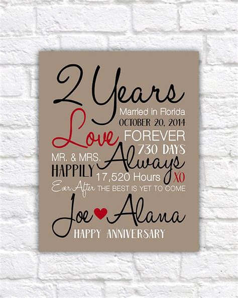 Wedding Anniversary Gift Second Year by Best 25 2 Year Anniversary Gift Ideas On 2