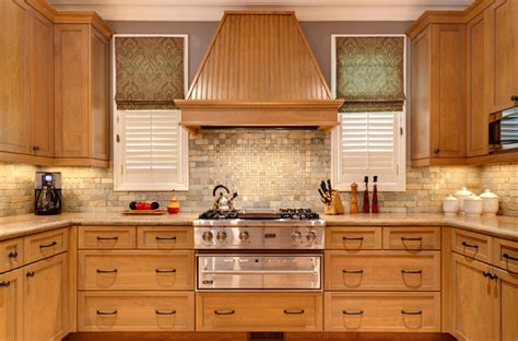 natural wood kitchen cabinets natural wood traditional beauty