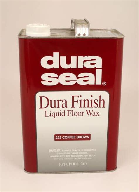 dura seal durafinish liquid wax  hardwood floors coffee brown gallon chicago hardwood flooring