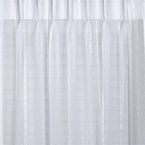 white pleated curtains buy bergamo striped sheer pinch pleat curtains online