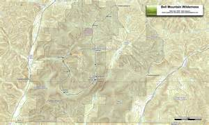 trail map bell mountain trail ozarks walkabout