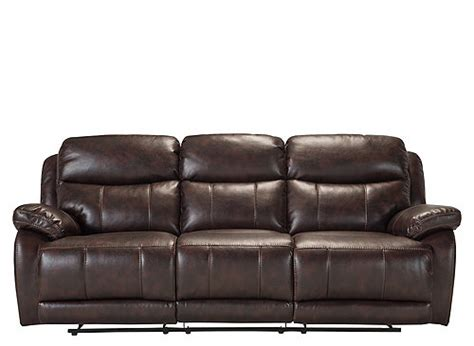 microfiber looks like leather toby microfiber leather look reclining sofa brown