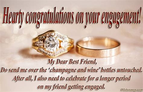Wedding Congratulation To A Friend by Best Engagement Wishes And Quotes For Friend Wishesmsg