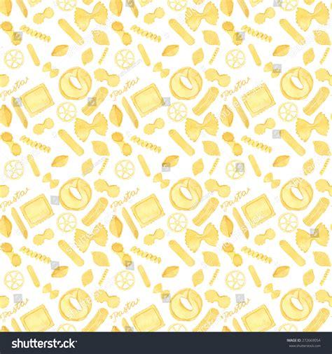 vector italian pasta pattern stock illustration seamless pattern with italian pasta real watercolor