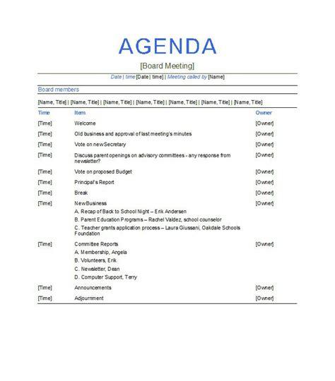 free agenda templates 5 meeting agenda template free