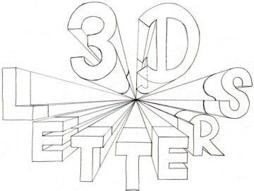 draw  letters  point perspective perspektive