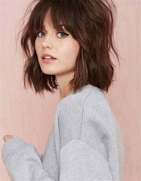 Easy Hairstyles For Medium Hair With Bangs by 15 Medium Hairstyles With Bangs 2016 2017 On Haircuts