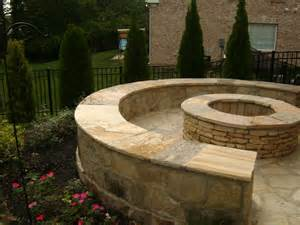 pit stones outdoor fireplaces and pits lawn