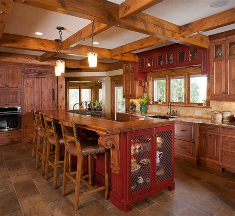 painted kitchen island ideas rustic kitchen design ideas with red painted kitchen