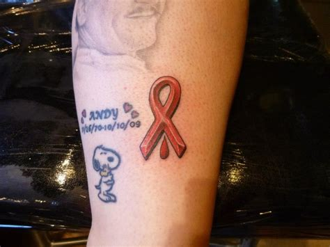 hiv aids hemophilia ribbon my other tats