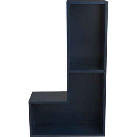 shelves navy blue and blue on