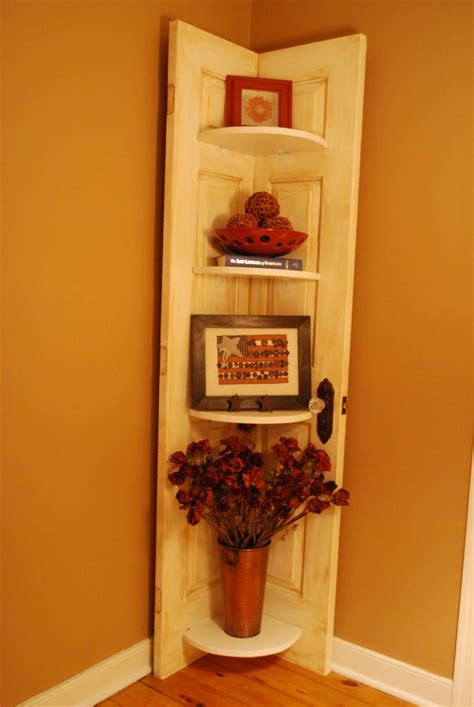 Door Corner Shelf door shelves repurposed furniture