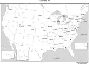 United states labeled map