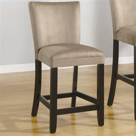 Microfiber Bar Stools by Coaster Bloomfield 24 Quot Microfiber Bar Stool In Taupe