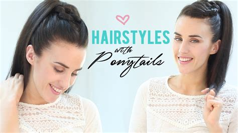 how to make easy hairstyles on youtube easy hairstyles with ponytails youtube