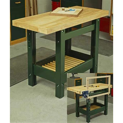 workhorse bench workhorse workbench woodworking plan from wood magazine