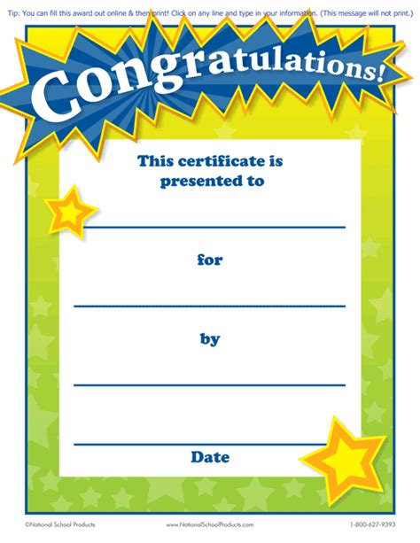 classroom certificates templates printable congratulations award for teachers free