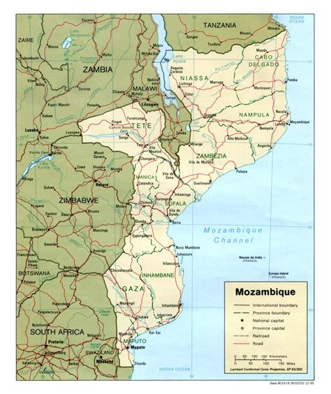 map of mozambique cities detailed political and administrative map of mozambique