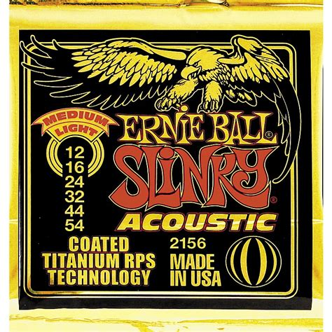 Ernie Ball 2156 Coated Slinky Medium Light Acoustic Guitar Light Guitar Strings Vs Medium