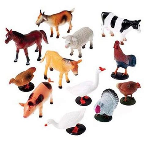 Wisebuy 12 New Plastic Animals Figures Set With Coconut Tree us company farm animals 12 2386 plastic