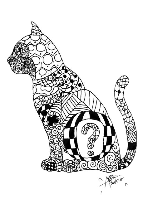 cat zentangle coloring page zentangle cat zentangle coloring pages for adults