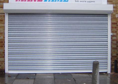 sg75 galvanised roller shutter door shop front shutters