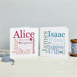 personalised new baby card pink or blue by spotty n stripy notonthehighstreet