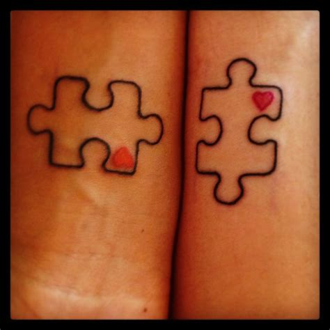 puzzle pieces tattoo friendship outline puzzle design