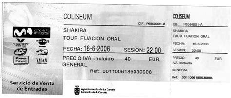 entradas caixa galicia o recuncho de seo 161 entradas concierto shakira en coru 209 a