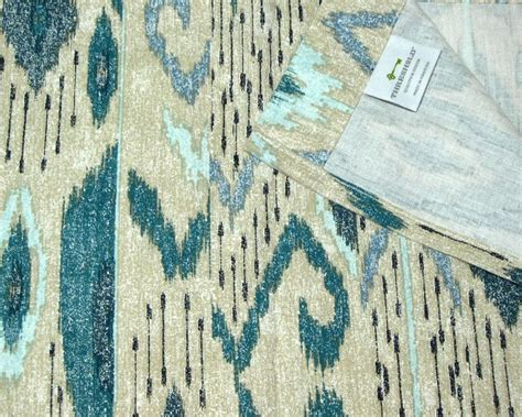 threshold ikat mix blue beige fabric shower curtain target