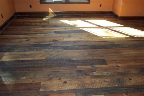 Barn Floors by Distressed Reclaimed Tobacco Barn Flooring With Finish