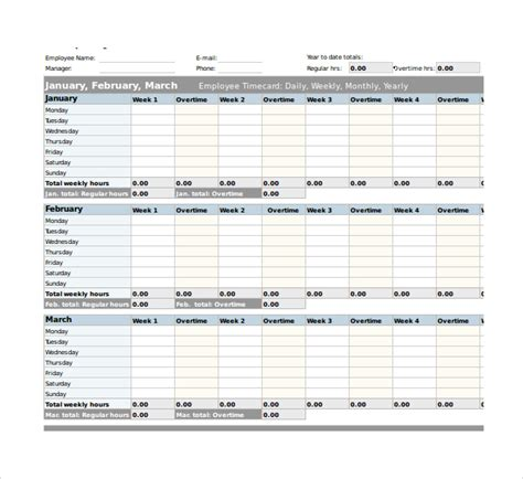 21 Overtime Sheet Templates Free Sle Exle Format Download Free Premium Templates Overtime Schedule Template