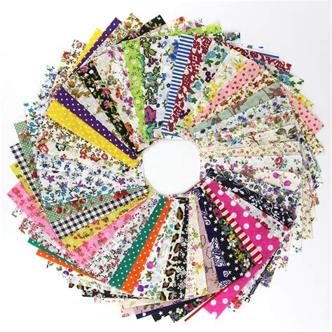 Patchwork Items - 50 pcs 10 10cm cotton fabric diy patchwork handmade charm