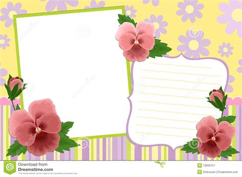 template photo blank template for photo frame stock vector image 13933757