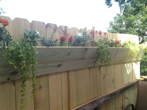 Flower Planters For Fences fence planter on back deck flowers plants outdoor
