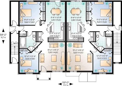 fourplex plans brick fourplex 21430dr architectural designs house plans