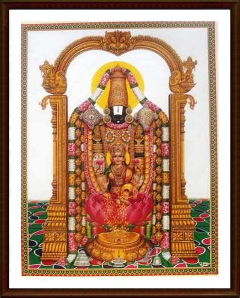 lord venkateswara photo frames with lights and music tirumala tirupati lord balaji with sri lakshmi frame