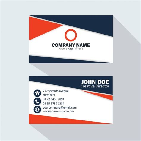 Business Card Template Freepik by Blue And Business Card Vector Free