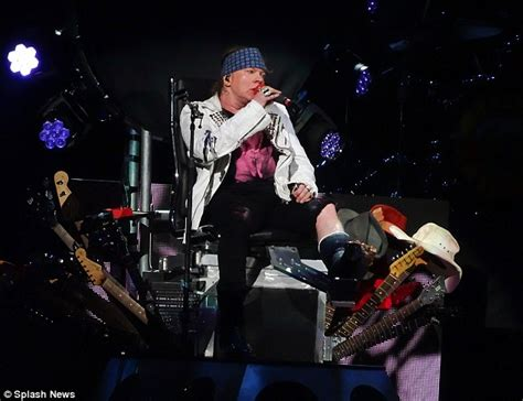 guns n wheelchairs axl 54 is pushed onto las