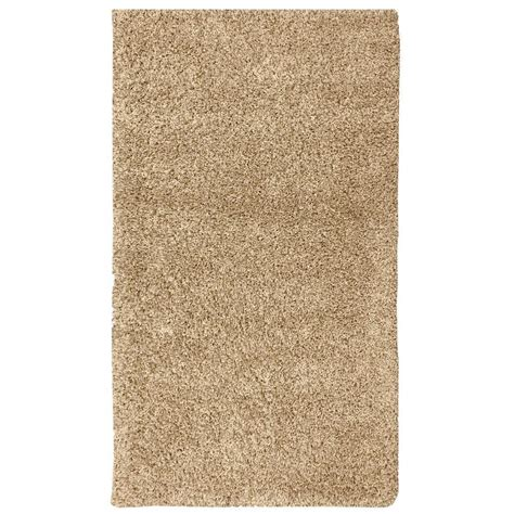 5 ft area rugs berrnour home plush solid shaggy beige 5 ft x 7 ft shag area rug pls2769 5x7 the home depot