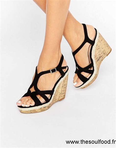 new look sandales compens 233 es femme noir chaussures new look dh90002987