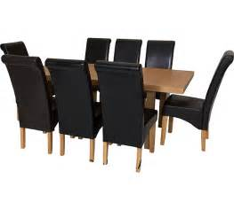 Argos Dining Room Furniture Buy Collection Wickham Dining Table 8 Chairs Oak Veneer Black At Argos Co Uk Your