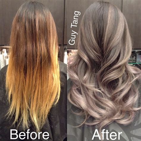 grey blonde and brown hairstyles silver grey ombre hair make over playlist beauty hair